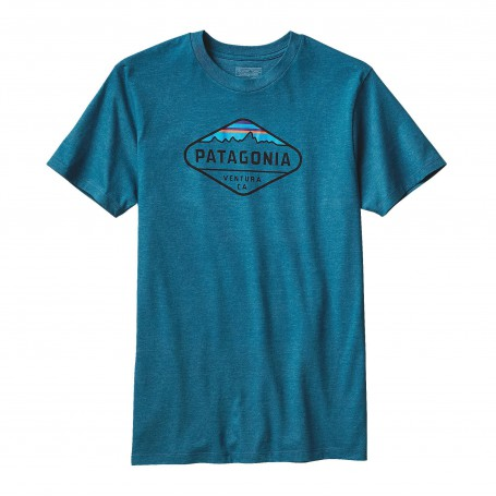Męski t-shirt Patagonia Fitz Roy Crest Deep Sea Blue