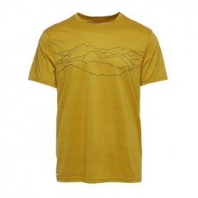 Black Diamond Genesis Tech Tee Mountain Print Sulphur