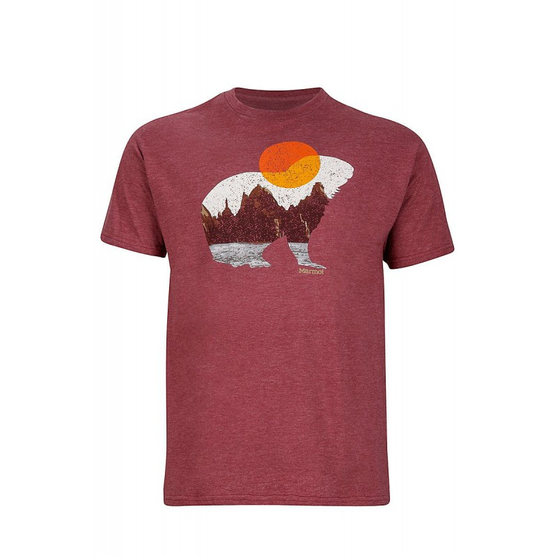 Męska koszulka Marmot Alpine Zone Tee SS Burgundy Heather