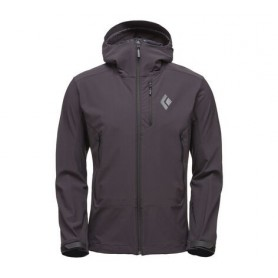 Black Diamond Dawn Patrol Shell Smoke męski cienki softshell z kapturem